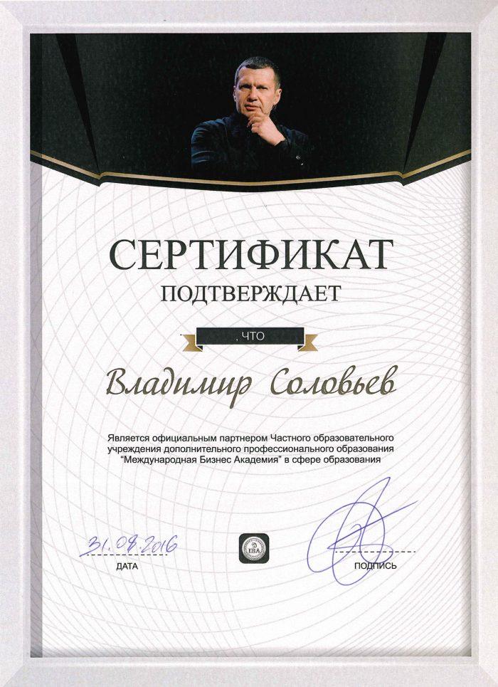 Roman Vasilenko partnership agreement with Vladimir Soloviev.