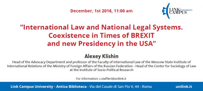 Flyer for the event hosting Alexey Klishin, Joseph Mifsud, Stephan Roh