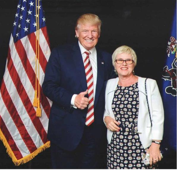 Donald Trump with Olga Kovalova.