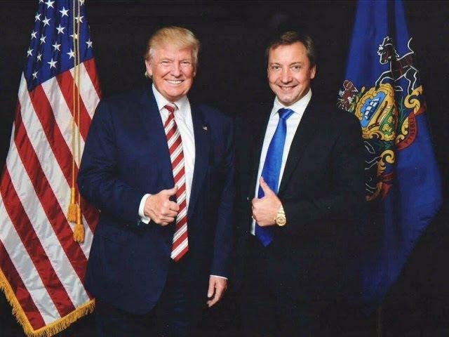 Donald Trump poses with Roman Vasilenko in September, 2016.